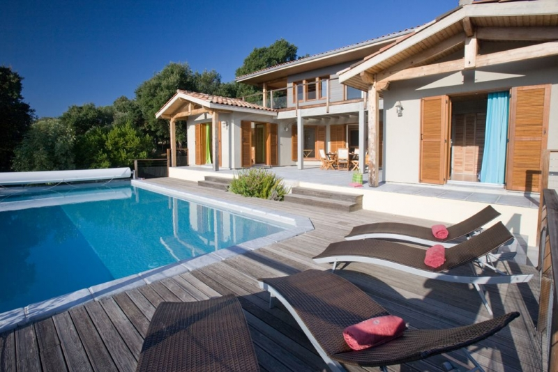 Location villa piscine porto vecchio 4 personnes dp lave2 for Villa piscine sud france